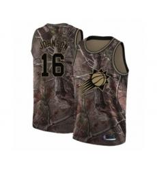 Men's Phoenix Suns #16 Tyler Johnson Swingman Camo Realtree Collection Basketball Jersey