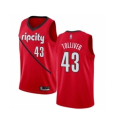 Men's Portland Trail Blazers #43 Anthony Tolliver Red Swingman Jersey - Earned Edition