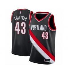 Men's Portland Trail Blazers #43 Anthony Tolliver Swingman Black Basketball Jersey - Icon Edition