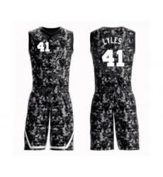 Men's San Antonio Spurs #41 Trey Lyles Swingman Camo Basketball Suit Jersey - City Edition