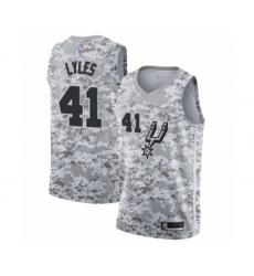 Men's San Antonio Spurs #41 Trey Lyles White Swingman Jersey - Earned Edition