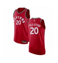 Men's Toronto Raptors #20 Rondae Hollis-Jefferson Authentic Red Basketball Jersey - Icon Edition