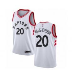 Men's Toronto Raptors #20 Rondae Hollis-Jefferson Authentic White Basketball Jersey - Association Edition