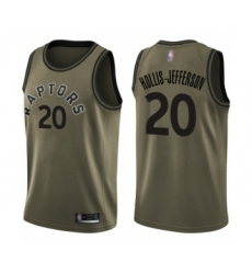 Men's Toronto Raptors #20 Rondae Hollis-Jefferson Swingman Green Salute to Service Basketball Jersey
