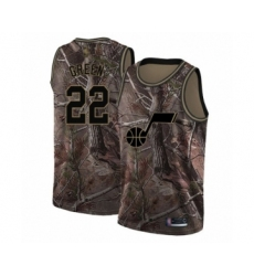 Men's Utah Jazz #22 Jeff Green Swingman Camo Realtree Collection Basketball Jersey