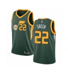 Men's Utah Jazz #22 Jeff Green Swingman Jersey - Earned Edition