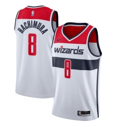 Men's Washington Wizards #8 Rui Hachimura Nike White 2020-21 Swingman Jersey