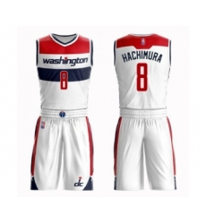Youth Washington Wizards #8 Rui Hachimura Swingman White Basketball Suit Jersey - Association Edition