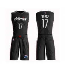 Youth Washington Wizards #17 Isaac Bonga Swingman Black Basketball Suit Jersey - City Edition