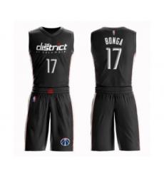 Youth Washington Wizards #17 Isaac Bonga Swingman Black Basketball Suit Jersey - City Edition