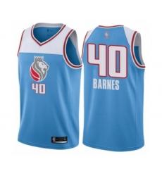 Men's Sacramento Kings #40 Harrison Barnes Authentic Blue Basketball Jersey - City Edition