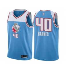 Women's Sacramento Kings #40 Harrison Barnes Swingman Blue Basketball Jersey - City Edition