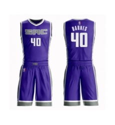 Women's Sacramento Kings #40 Harrison Barnes Swingman Purple Basketball Suit Jersey - Icon Edition