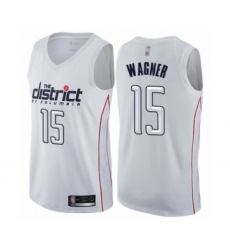 Men's Washington Wizards #15 Moritz Wagner Authentic White Basketball Jersey - City Edition