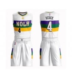 Men's New Orleans Pelicans #4 JJ Redick Swingman White Basketball Suit Jersey - City Edition