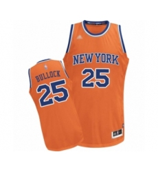 Men's New York Knicks #25 Reggie Bullock Authentic Orange Alternate Basketball Jersey
