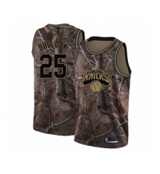 Men's New York Knicks #25 Reggie Bullock Swingman Camo Realtree Collection Basketball Jersey