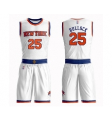 Men's New York Knicks #25 Reggie Bullock Swingman White Basketball Suit Jersey - Association Edition