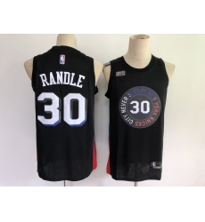 Men's New York Knicks #30 Julius Randle Black Nike City Player Jersey