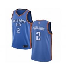Men's Oklahoma City Thunder #2 Shai Gilgeous-Alexander Swingman Royal Blue Basketball Jersey - Icon Edition