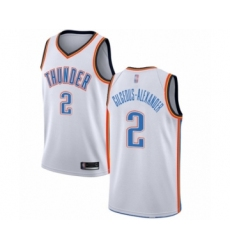 Men's Oklahoma City Thunder #2 Shai Gilgeous-Alexander Swingman White Basketball Jersey - Association Edition