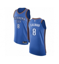 Men's Oklahoma City Thunder #8 Danilo Gallinari Authentic Royal Blue Basketball Jersey - Icon Edition