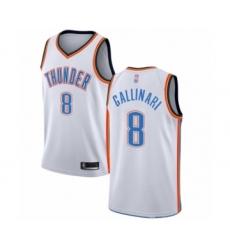 Men's Oklahoma City Thunder #8 Danilo Gallinari Authentic White Basketball Jersey - Association Edition