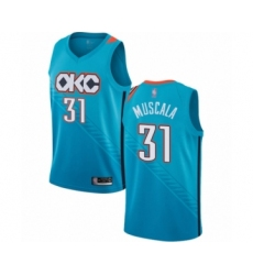 Men's Oklahoma City Thunder #31 Mike Muscala Authentic Turquoise Basketball Jersey - City Edition
