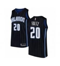 Men's Orlando Magic #20 Markelle Fultz Authentic Black Basketball Jersey Statement Edition