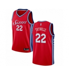 Men's Philadelphia 76ers #22 Mattise Thybulle Swingman Red Basketball Jersey Statement Edition