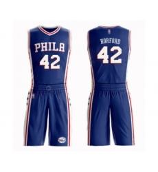 Men's Philadelphia 76ers #42 Al Horford Swingman Blue Basketball Suit Jersey - Icon Edition