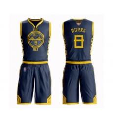 Women's Golden State Warriors #8 Alec Burks Swingman Navy Blue Basketball Suit Jersey - City Edition
