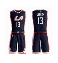 Women's Los Angeles Clippers #13 Paul George Swingman Navy Blue Basketball Suit Jersey - City Edition