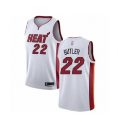 Men's Miami Heat #22 Jimmy Butler Authentic White Basketball Jersey - Association Edition