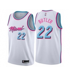 Men's Miami Heat #22 Jimmy Butler Authentic White Basketball Jersey - City Edition