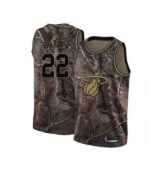 Men's Miami Heat #22 Jimmy Butler Swingman Camo Realtree Collection Basketball Jersey