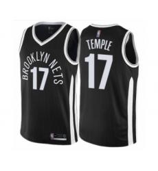Men's Brooklyn Nets #17 Garrett Temple Authentic Black Basketball Jersey - City Edition