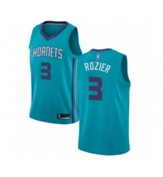 Men's Jordan Charlotte Hornets #3 Terry Rozier Authentic Teal Basketball Jersey - Icon Edition