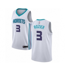 Men's Jordan Charlotte Hornets #3 Terry Rozier Authentic White Basketball Jersey - Association Edition
