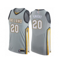 Men's Cleveland Cavaliers #20 Brandon Knight Authentic Gray Basketball Jersey - City Edition