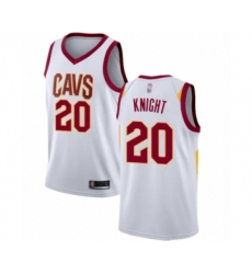 Men's Cleveland Cavaliers #20 Brandon Knight Authentic White Basketball Jersey - Association Edition