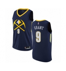 Men's Denver Nuggets #9 Jerami Grant Authentic Navy Blue Basketball Jersey - City Edition