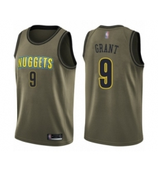 Youth Denver Nuggets #9 Jerami Grant Swingman Green Salute to Service Basketball Jersey