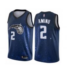 Men's Orlando Magic #2 Al-Farouq Aminu Authentic Blue Basketball Jersey - City Edition