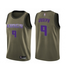 Men's Sacramento Kings #9 Cory Joseph Swingman Green Salute to Service Basketball Jersey