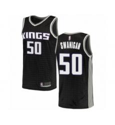 Men's Sacramento Kings #50 Caleb Swanigan Authentic Black Basketball Jersey Statement Edition