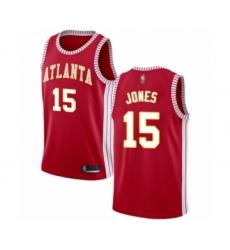 Men's Atlanta Hawks #15 Damian Jones Authentic Red Basketball Jersey Statement Edition