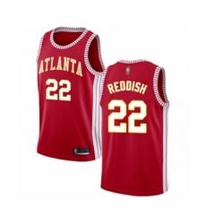 Men's Atlanta Hawks #22 Cam Reddish Authentic Red Basketball Jersey Statement Edition