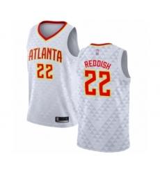 Men's Atlanta Hawks #22 Cam Reddish Authentic White Basketball Jersey - Association Edition