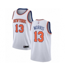 Men's New York Knicks #13 Marcus Morris Authentic White Basketball Jersey - Association Edition